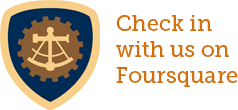 Check in with us on Foursquare