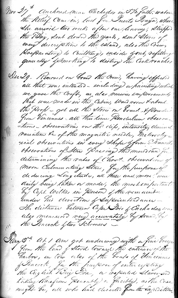 Page From A Ship S Log Time And Navigation