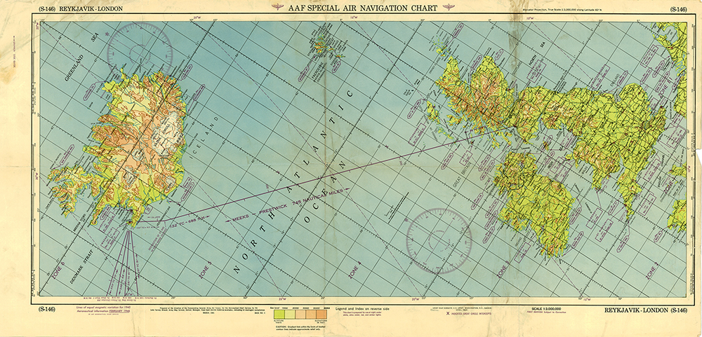 Aaf Special Air Navigation Chart S 145 Stephenville To