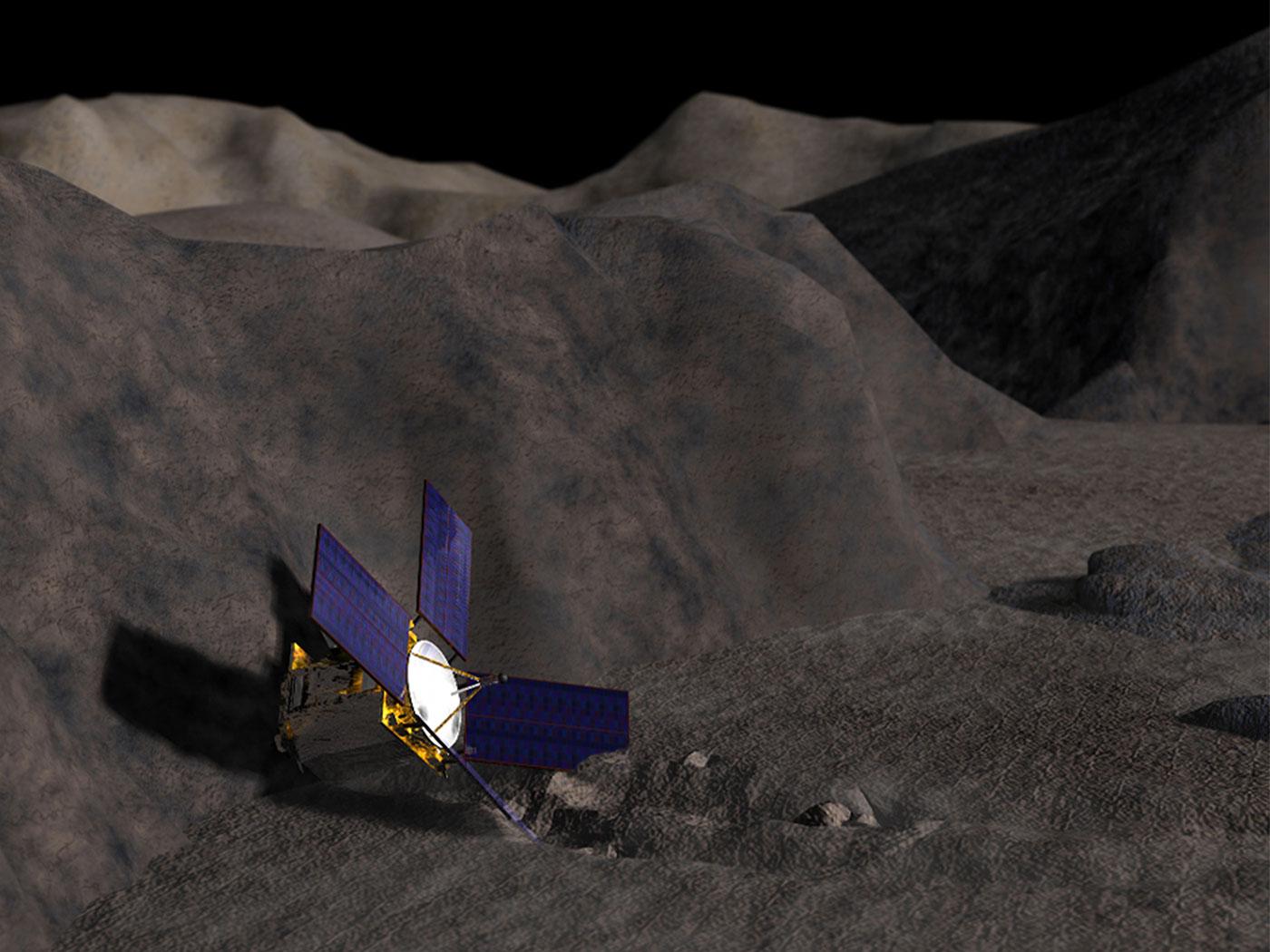 Image result for near eros landing