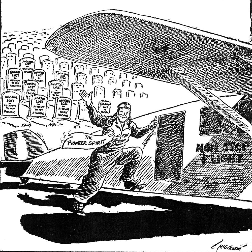 Cartoon Slipstream Magazine October 1927 Time And